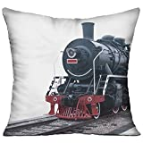Xxxon Steam Train On A White Exquisite Living Room Pillows 18x18