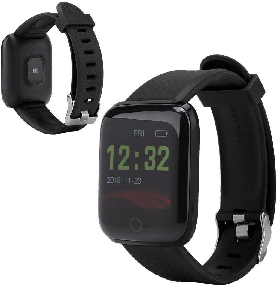Nannday 【𝐑𝐞𝐠𝐚𝐥𝐨 𝐝𝐞 𝐍𝐚𝒗𝐢𝐝𝐚𝐝】 Pulsera Inteligente portátil multifunción, Reloj Inteligente, Hombres para Mujeres(Black)