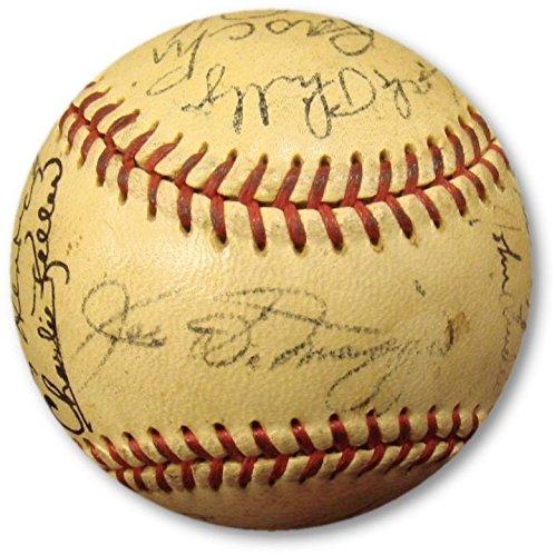(1949 New York Yankees Team Signed Baseball Rizzuto COA 27 Autographs)