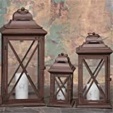European minimalist glass candlestick retro floor windproof Lantern Home Garden Hotel candlestick ornaments-A