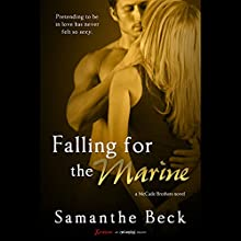 Falling for the Marine Audiobook by Samanthe Beck Narrated by Holly Fielding