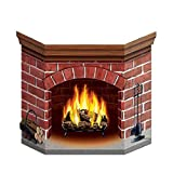 Bargain World Brick Fireplace Stand-Up (with Sticky Notes)