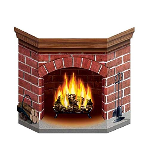 Bargain World Brick Fireplace Stand-Up (with Sticky Notes) by Bargain World