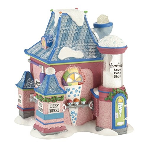 Department 56 North Pole Village Snowflake's Snow Cone Shop Lit House, 5.5 inch