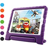 iPad 9.7 inch 2018/2017 Air 2 Case for Kids, Dwopar Shockproof Light Weight EVA Protective Case for Boys and Girls with Handle Stand for New Apple iPad/Air 1/2 Tablets - Purple