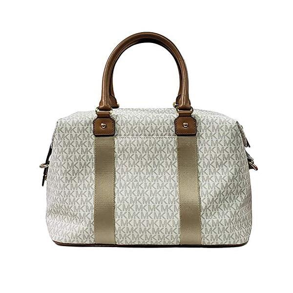 284045b66d373 Michael Kors LG large travel bag weekender purse MK vanilla acorn ...