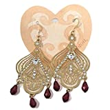 Brighton Danika Crystal Laser Cut Earrings French Wire Gold Plated Chandelier