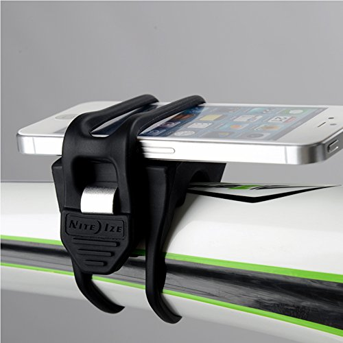 Nite Ize - HandleBand - Cell Phone Handlebar Mount For Quick, Secure and Accessible Attachment To Your Bicycle - Lightweight and Durable Bike Phone Mount - Fits Most Smartphones With Or Without Cases