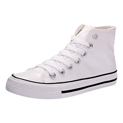 Kivors Sneaker Donna Zeppa Alte Donna Scarpe Tela in Alte Zeppa Interna Zip  9 CM Allacciate cde938ef17f