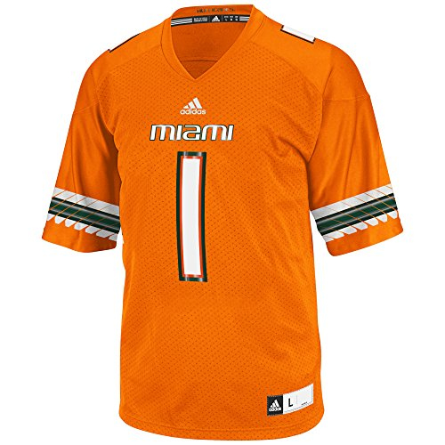NCAA Miami Hurricanes Men's 3-Stripe Football Jersey, Medium, - Jerseys Mens Miami Heat