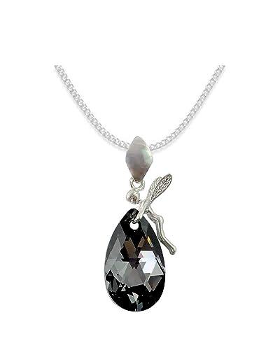d5b6f1b9179161 ALMOND   MANDEL  Elf Stil Swarovski Elements - Farbe  Silver Night ...