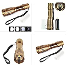 Camping Brone 2000lm Xm-l T6 LED Zoomable Flashlight Torch 18650/aaa Lamp Light