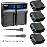 Kastar 4 Pack Battery NP-F990 PRO and LCD Dual Rapid Charger for Sony CCD-TRV101 CCD-TRV119 CCD-TRV15 CCD-TRV16 CCD-TRV17 CCD-TRV201 CCD-TRV215 CCD-TRV20 CCD-TRV25 CCD-TRV26 CCD-TRV27 CCD-TRV300