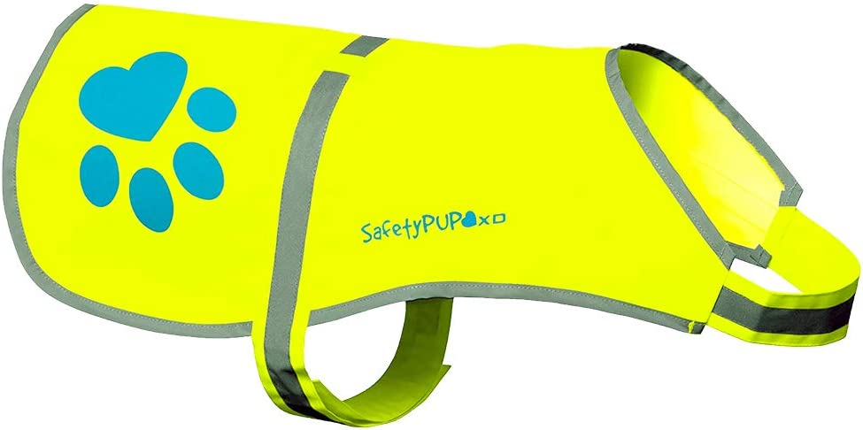SafetyPUP XD - Protect Your Best Friend. Hi-Vis Fluorescent, Reflective Dog Vest Provides Crucial Visibility Helping You Safeguard Your Pet from Cars & Rural Accidents, On or Off Leash