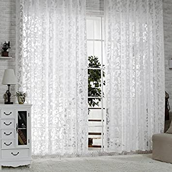 R.LANG Gardinen Wohnzimmer mit Kräuselband Oben Vorhang Weiß HxB 245x450 cm