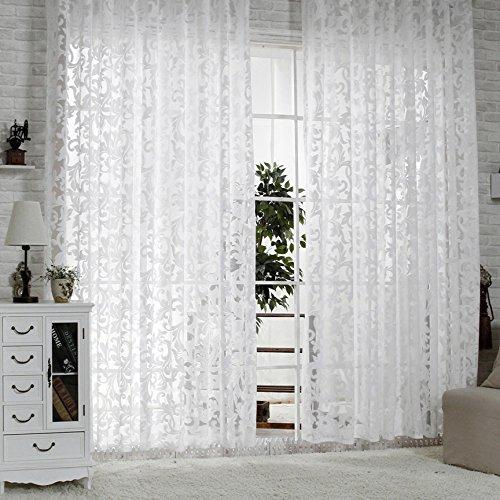 R.LANG Gardinen Wohnzimmer mit Kräuselband Oben Vorhang Weiß HxB