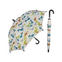 "Rainstoppers Boys Multi Dino Print 32"" Arc Manual Open Hook Handle Umbrella"
