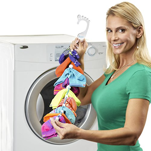 SockDock 2 Pack Sock Laundry and Storage Hangers, Closet Organizers, Easy Clips & Locks Paired Socks without Ties, Mesh Bags, Bins, Baskets, Drawers, Dividers or Containers (Red)