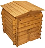 Wooden Beehive Double Hinged Compost Bin Garden Waste Composter Composting Wood Bins - 328L - 78.7cm x 73.7cm by Lacewing™