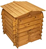 Wooden Beehive Double Hinged Compost Bin Garden Waste Composter Composting Wood Bins - 328L - 78.7cm x 73.7cm by Lacewing