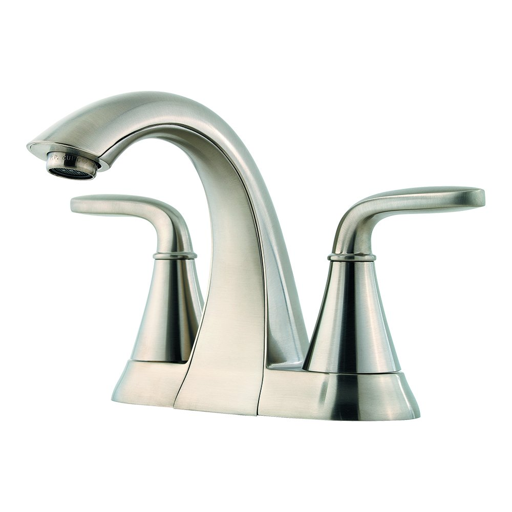 Pfister LF048PDKK Pasadena 2 Handle 4 Inch Centerset Bathroom Faucet in Brushed Nickel
