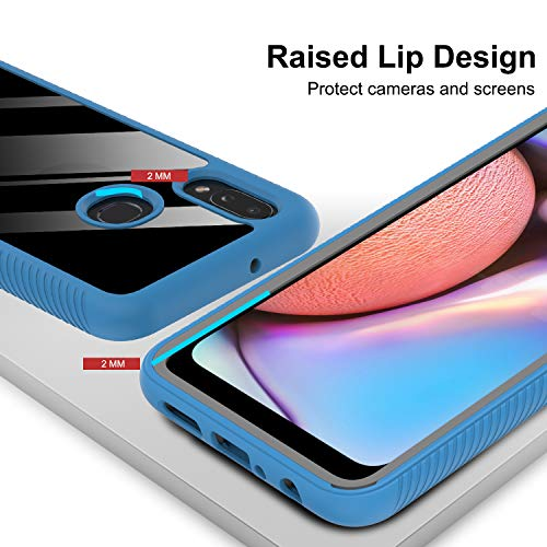 Samsung Galaxy A10S Case, Galaxy A10S Case with 2 Tempered Glass Screen Protector, LeYi Full-Body Protective Rugged Hybrid Bumper Shockproof Clear Phone Cases for Samsung A10S (Not Fit A10e)