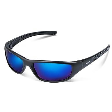 Duduma Tr8116 Polarisierter Sport Sonnenbrille für Herren und Damen Ski Fahren Golf Laufen Radsport Superleichtes Rahmen (Weißen Rahmen mit Blau Linse) cKFovgR