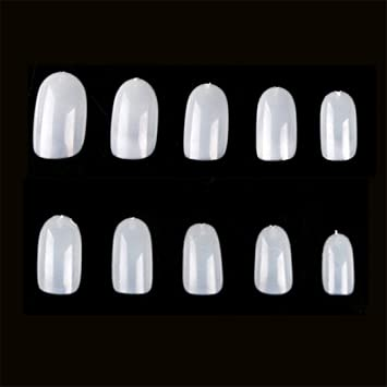 Amazon.com : 10PC Natural Full Cover False Nails Short Fake Nails Faux False Nails Overhead Design Artificial Nails JZJ019 : Beauty