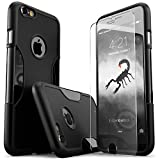 iPhone 6 Plus Case, (Black) SaharaCase Protective Kit Bundle with [ZeroDamage Tempered Glass Screen Protector] Rugged Protection Anti-Slip Grip [Shockproof Bumper] Anti-Scratch Back Slim Fit - Black