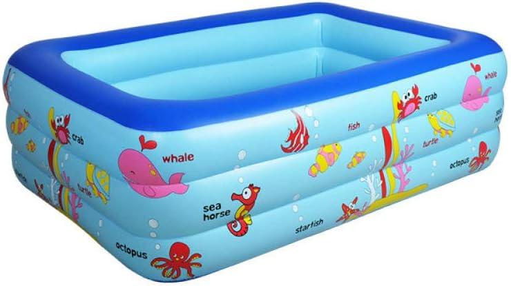 Configuración de colocación Simple Centro de natación Salón Familiar Rectangular Familia Niños Niños Adultos Piscina Infantil Hinchable Casa para bebés de Tres Pisos 130 * 85 * 55 con Bomba