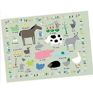 Petit Jour AF914D - Salvamanteles, diseño animales