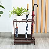 Household Umbrella Stand Racks Landing Hotel Lobby Umbrella Shelf Storage Rack Iron Umbrella Bucket 502470cm ( Color : Bronze )