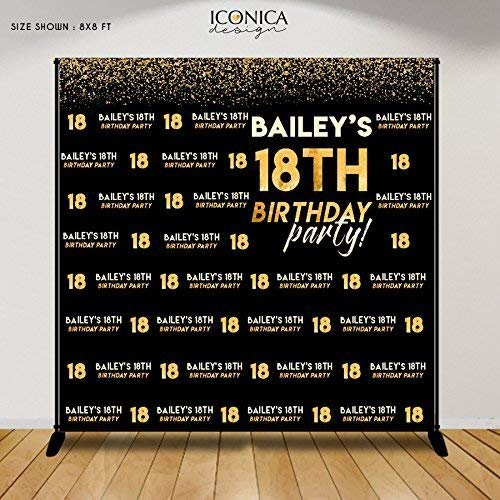 Amazon Birthday Photo Booth Backdrop 18th Party Decor