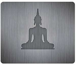 Buddha Silhouette vector Mousepad,Custom Rectangular Mouse Pad