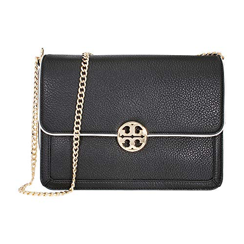 Tory Burch Duet Chain Ladies Large Leather Shoulder Bag 31332004 (Shoulder Leather Bag Chain Link Black)