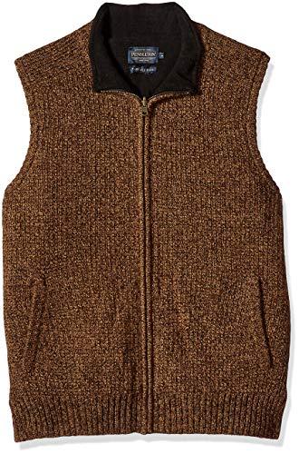 Pendleton Men's Reversible Fleece Sweater Vest, Beaver Marl, - Vest Fleece Reversible