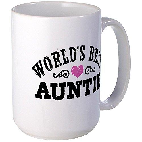 CafePress World's Best Auntie Large Mug Coffee Mug, Large 15 oz. White Coffee Cup