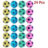 PETFAVORITES™ Foam/Sponge Soccer Ball Cat Toy Best Interactive Cat Toys Ever 2014 Most Popular Independent Pet Kitten Cat Exrecise Toy balls for Real Cats Kittens, Soft/Bouncy/Noise Free, 24 Pack.