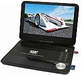Reflexion DVD1016T2HD Tragbarer 25,4 cm (10 Zoll) DVD-Player mit DVB-T2 HD Tuner, Fernbedienung, 12V Adapter, Mini-AV Kabel, 230V Netzteil schwarz