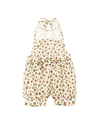 Girls Floral One-piece Kids Baby Romper Shorts Lace Clothes for 2-7 T