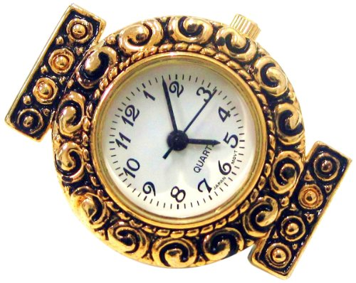 Gold Watch Face (Linpeng Internationa Watch Face Gold Frame with Swirl Crafts)