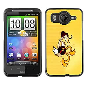 MOBMART Slim Sleek Hard Back Case Cover Armor Shell FOR HTC G10 - Western Dancing Duck - Funny