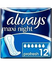 Always Maxi Night ProFresh servetten zonder vleugels, 12 afzonderlijke hoezen voor ouders