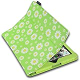 Lente Designs® Ladies, Men's & Children's Apple iPad 2, 3 & 4 cover cases with auto on off & integrated stand in floral, stripes & abstract prints (Daisy Chain)