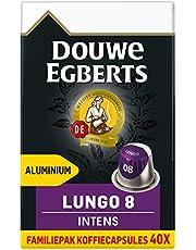 Douwe Egberts Koffiecups Lungo Intens Voordeelverpakking (200 Capsules, Geschikt voor Nespresso* Koffiemachines, Intensiteit 08/12, Donker Gebrande Koffie, UTZ Gecertificeerd), 5 x 40 Cups