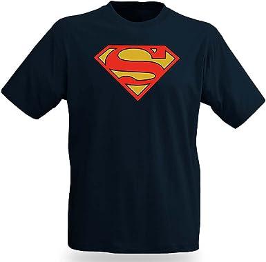 Superman Logo – Camiseta, Producto Oficial DC Comic Camiseta, Color Azul Oscuro los Anillos de Bosque Azul S: Amazon.es: Ropa y accesorios