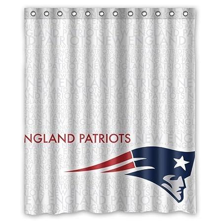 New England Patriots Logo Custom Shower Curtain 60