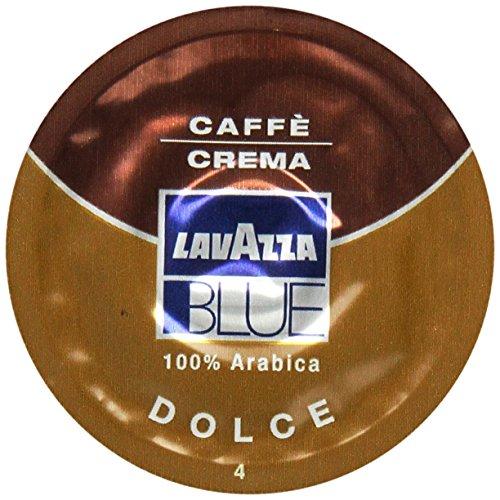Lavazza BLUE Capsules, Caffe Crema Dolce Coffee Blend, Medium Dark Roast, 28.2-Ounce Boxes (Pack of 100) (Medium Blue Machine)