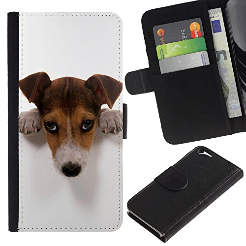 EuroCase - Apple Iphone 6 4.7 - Cute Guilty Doge - Cuir PU Coverture Shell Armure Coque Coq Cas Etui Housse Case Cover