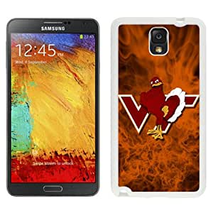 Fashion And Unique Samsung Galaxy Note 3 Cover Case NCAA Atlantic Coast Conference ACC Footballl Virginia Tech Hokies 2 Protective Cell Phone Hardshell Cover Case For Samsung Galaxy Note 3 N900A N900V N900P N900T White Phone Case
